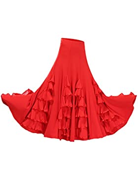 Homyl Traje de Baile de Mujer Salsa Tango Cha Cha Flamenco Cómodo