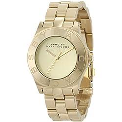 Marc Jacobs MBM3126 - Reloj con correa de acero para mujer, color dorado/gris