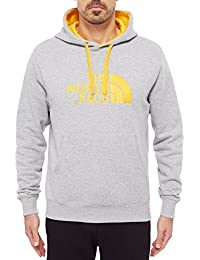 The North Face Drew Peak - Sudadera para hombre, color Gris (HEATHRGY/TNFYLW), talla M