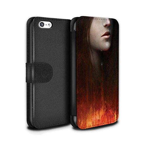 Offiziell Chris Cold PU-Leder Hülle/Case/Tasche/Cover für Apple iPhone 5C / Shadowgate Schloss Muster / Gefallene Erde Kollektion Tränen der Eva