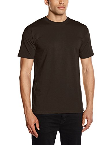 Fruit of the Loom Premium tee Single, Camiseta Manga Corta para Hombre, Marrón (Chocolate), X-Large