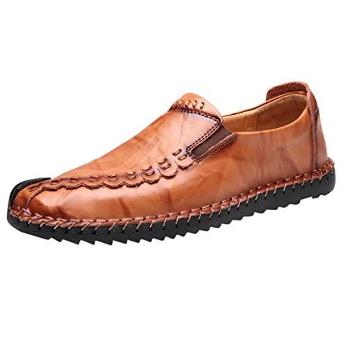 ☀Nnuoen☀ Mocassini causali da Uomo Mocassini con Suola in Cuoio Scarpe Classiche comode da Passeggio Oxford