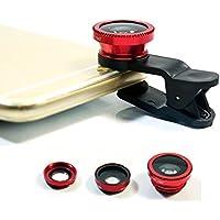 cmykzone 3 en 1 kit de lente de cámara de 180 grados Ojo de Pez para Teléfono mó