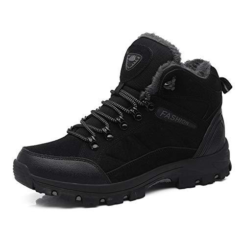 FOGOIN Wanderschuhe Herren Damen Wasserdicht Trekking Boots Winter Warm Gefüttert Outdoor Hiking Winterschuhe 35-45