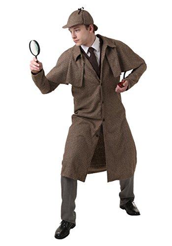 Erwachsenes Sherlock Holmes Kostüm - L