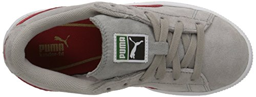 Puma Suede Jr Daim Chaussure de Marche Drizzle-High Risk Red