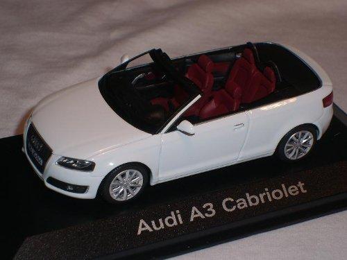 ABRIOLET WEISS 1/43 MINICHAMPS MODELLAUTO MODELL AUTO (Audi Modell Auto)