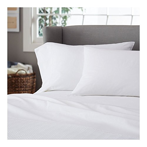 Ahmedabad Cotton Plain White High Quality Super Soft Luxurious Cotton Pillow Cover / Case Set (2 Pcs) - 300 TC  available at amazon for Rs.199