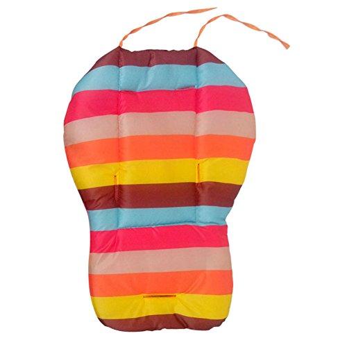 Baby Stroller Cushion Pad,Rainbow Color Soft Thick Pram Cushion Chair BB Car