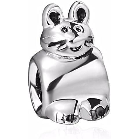 Pippo Coniglio Argento Sterling per braccialetti Pandora, Chamilia braccialetti collane