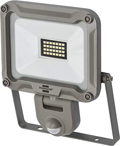 Brennenstuhl LED Außenstrahler JARO 2000P (für außen mit Bewegungsmelder, zur Wandmontage, LED-Fluter 20W aus Aluminium, IP44) silber
