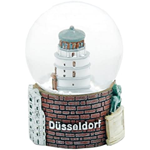 30046 Souvenir palla di neve torre Düsseldorf castello - 45 mm