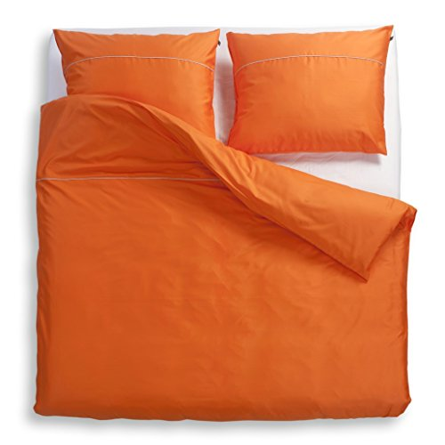 Odeja 200 x 260 plus 2 x 60 x 80 cm Decor Basic N Super King Bedlinen Set, Pack of 1, Orange