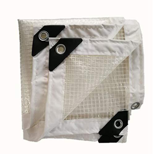 HCYTPL Transparente Plane wasserdichter Patio-Regenschutz-Hochleistungstuch mit Metallschnalle aus Polyethylen, 15 Größen, anpassbar,2 * 7m -