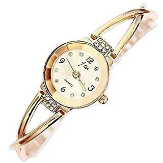 Women Watches Rose Gold Bracelet Chain Rhinestone