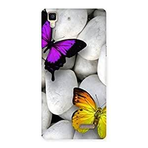 Enticing Butterflies white stones Back Case Cover for Oppo R7