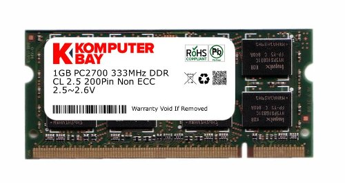 1Go DDR PC2700 DDR333 333Mhz Komputerbay (200 broches) mémoire d'ordinateur portable SODIMM