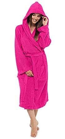 damen bademantel frottee 100 baumwolle robe bekleidung. Black Bedroom Furniture Sets. Home Design Ideas