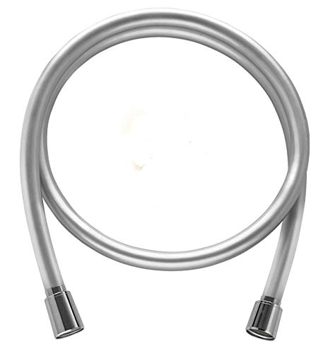 chlauch von SHP - mit genormtem Universal-Anschluss und antibakterieller Oberfläche. Duschschlauch in silberglatt mit Verdrehschutz - Länge von 80 cm ()