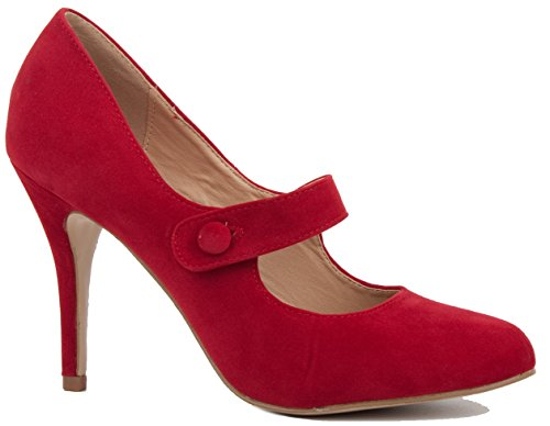 Red Suede Size 5 – NEW WOMENS LADIES WEDDING BRIDAL BRIDESMAID MID PARTY PROM HIGH HEELS STILETTO COURT SHOES PUMPS