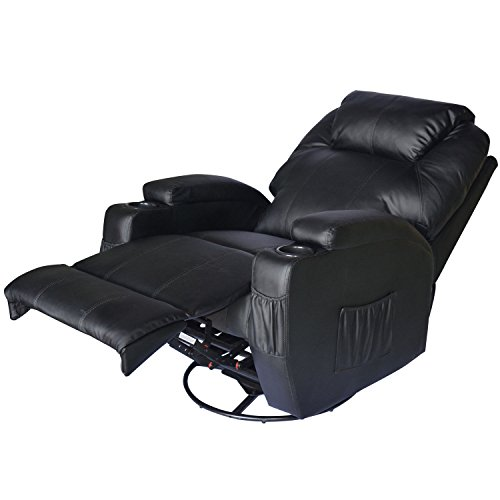 Homcom® Massagesessel Fernsehsessel mit Heizfunktion und Massagefunktion schwarz - 4