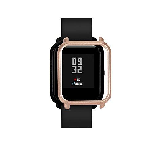 FeiliandaJJ Watch Schutzhülle für Huami Amazfit Bip Youth Watch Smartwatch Gehäuse PC Kratzfest Bruchsicher Leichte Watch Full Case Cover Gehäuseabdeckung (Gold) Gold Gehäuse Cover