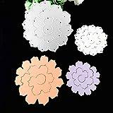 Qinpin Silikon-Prägeschablone Schmetterling Blumen DIY Karte Scrapbooking Dekoration, kostenlose Lieferung, Karbonstahl, B, Einheitsgröße