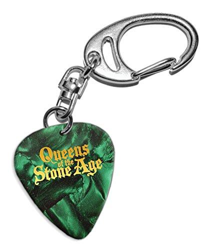 Queens Of The Stone Age Púa de Guitarra Llavero Keyring Green Pearl ( GHF )