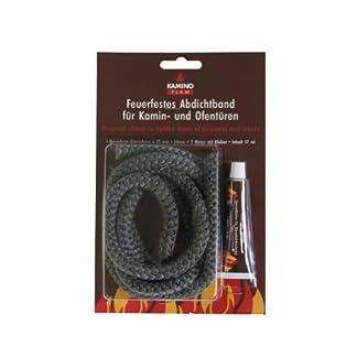 Kamino-Flam 333212–Cuerda, diámetro 12mm 2m, incluye pegamento), color gris