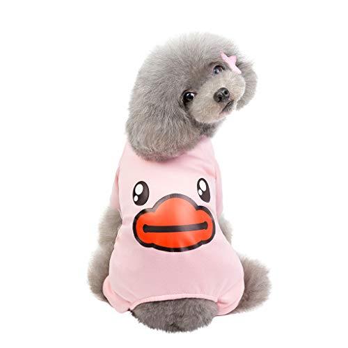 Dkings Milch Seide süße Ente Hund Pyjamas/Hund Pyjamas/Schlanke Passform/leichte Pullover Pyjamas/Full Coverage Hund Pjs, Herbst und Winter halten warm -