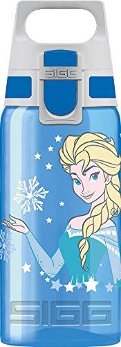 SIGG VIVA ONE Elsa, Kinder Trinkflasche, 0.5 L, Polypropylen, BPA Frei, Blau - Geschirrspüler Desinfizieren