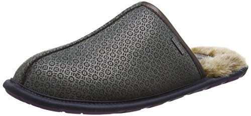 Ted Baker Youngi, Chaussons homme Gris - Grey (Dark Grey Print)