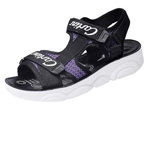 ✿✿Eaylis Damen Klettverschluss Koreanische Version Von Harajuku-Stil Wilden Strand Schuhe Sommer Freizeitschuhe Der Frauen