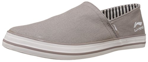 Li-Ning Men's Skipper Grey Loafers - 9 UK  available at amazon for Rs.657