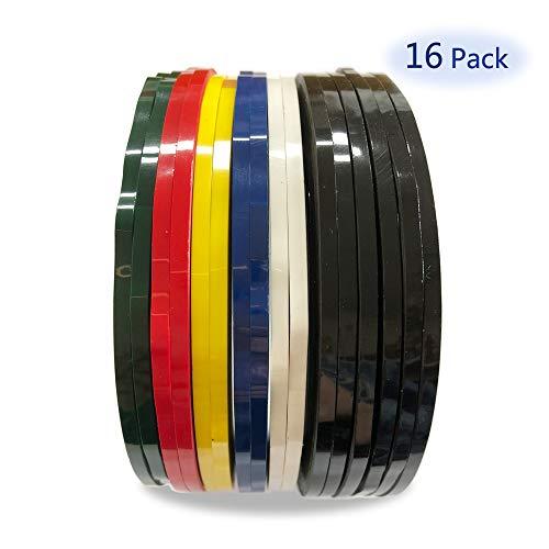 stklebende Whiteboard-Klebebänder trocken löschen Board Art Tapes Markierungsband Linien, Gridding Grafikband, 66m Länge. (Gemischte Farben) ()