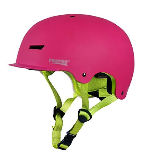LIQICAI Helm for Kinder, Jugend CPSC-Zertifiziert Leicht Schlittschuh BMX Skateboard Mit Herausnehmbarem Futter Belüftungssystem (Color : Pink, Size : S)