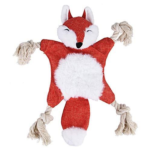 ALWAYZZ Haustier Plüsch Katze Hund verschleißfeste Bisssimulation Tier Eichhörnchen Spielzeug Hondenspeelgoed Spielzeug für Hunde,Red -