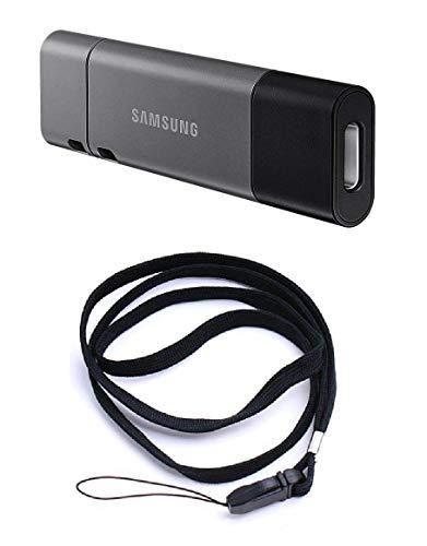 Memory Drive Flash USB3.1 64GB/Duo Plus MUF-64DB/EU SAMSUNG und schwarzes Schlüsselband (Bundle - 2 Artikel) -