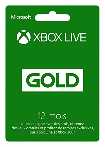 Microsoft Xbox 360 LIVE 12-Month Gold Subscription Card, FR