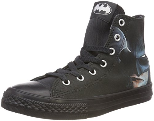 Converse Unisex-Kinder CTAS HI Hohe Sneaker, Schwarz (Black/White/Black 001), 30 EU