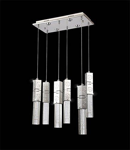 Kronleuchter/Postmodern einfache LED Angelschnur Kronleuchter Kristall Edelstahl kreative Restaurant Bar Tischlampen (größe : 6 heads)