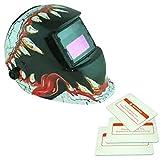 Generic Solar Automatischer Verdunkelung Schweißmaske Helm Maske 10 Muster - Zähne