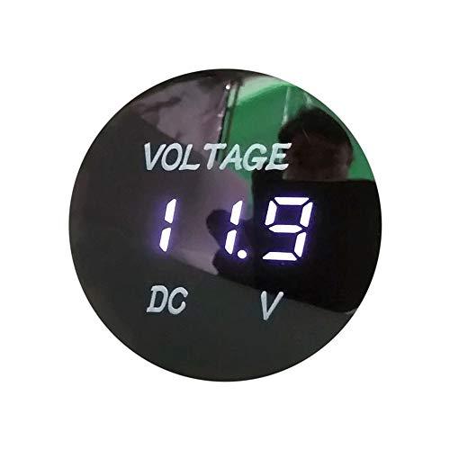 NIUQY Charakteristisch Tragbarer Haltbares Wasserdichte Auto-Boots-Auto-Motorrad DC5V-48V LED-Anzeigen-Digitalanzeige Voltmeter Mode Personalisiert Style Matching (Ich Tablet Mini)
