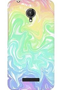 AMEZ designer printed 3d premium high quality back case cover for Micromax Canvas Spark Q380 (dye colours)