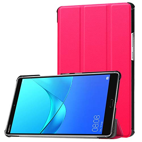Schutzhülle für Huawei MediaPad M5 8.4 Zoll Hülle Tablet Flip Case mit Auto Sleep/Wake, Standfunktion und Touch Pen Pink