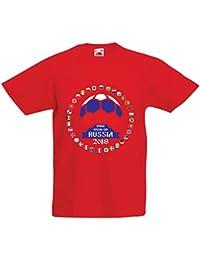 lepni.me Camiseta para Niño/Niña Las 32 Banderas del Equipo de Fútbol Nacional