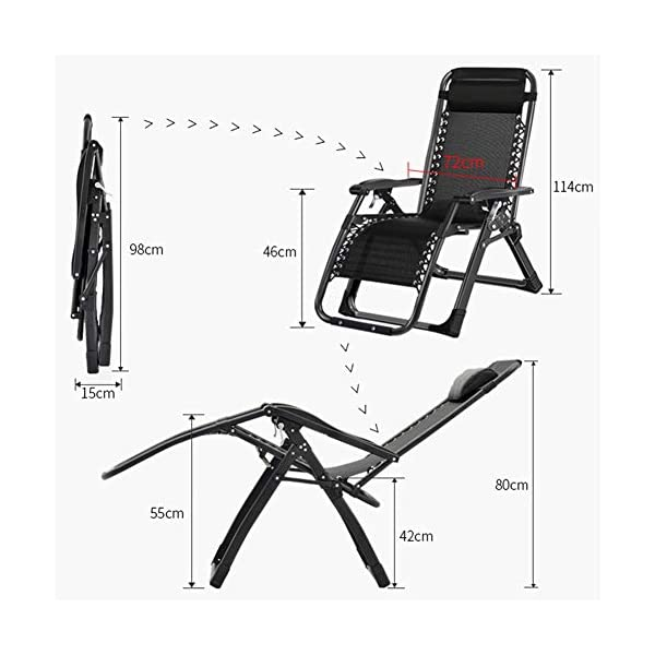 LXLA Oversize Zero Gravity Chair Extra Wide 440 lbs Weight Capacity