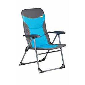 41k1erzodwL. SS300  - Kampa Skipper Reclining Camping Chair | Charcoal (Blue)