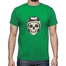 latostadora - Camiseta Calavera Motera para Hombre