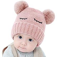 Scrox 1x Sombrero Peluche Kawaii Gorra Bebé Niños Invierno Bola de Pelo  Algodón Gorritas Otoño Invierno c0a1641ec31